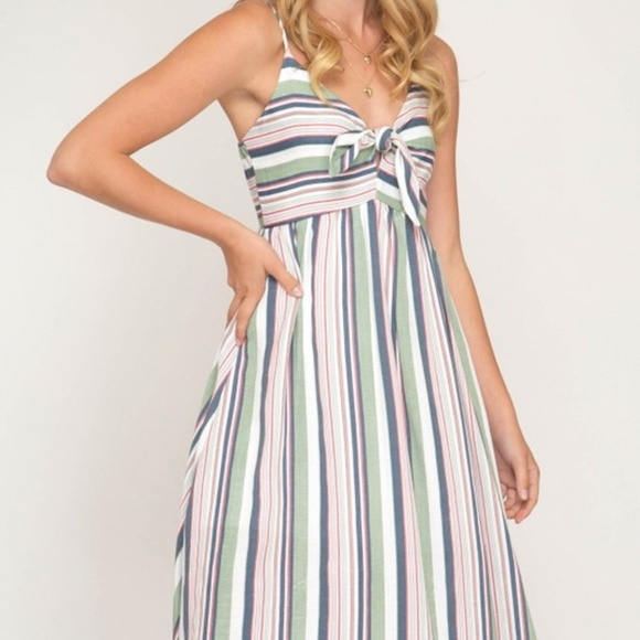 Dresses & Skirts - MULTI STRIPED WOVEN CAMI DRESS
